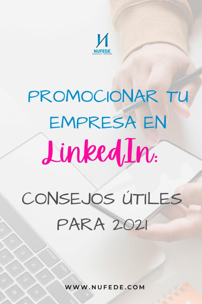 promocionar tu empresa en linkedin 2021